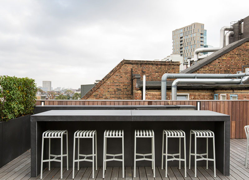 Outdoor bench (frameworks only)