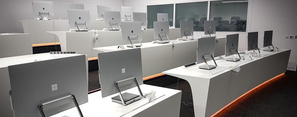 Computer technology in desks