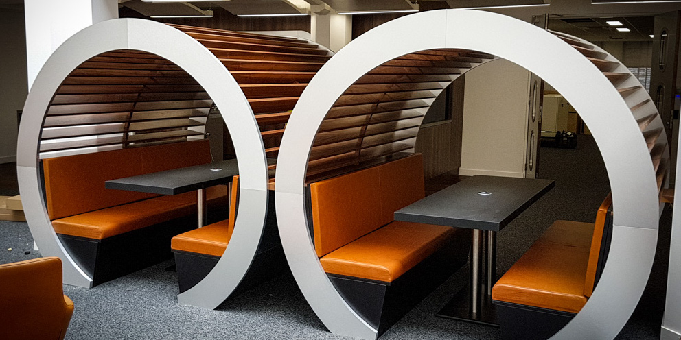 Pod used as a collaborative space