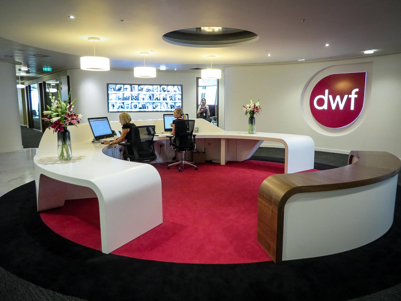 Laminate reception desks