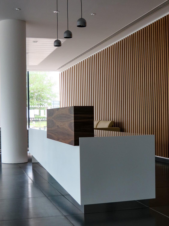 Laminate reception desk