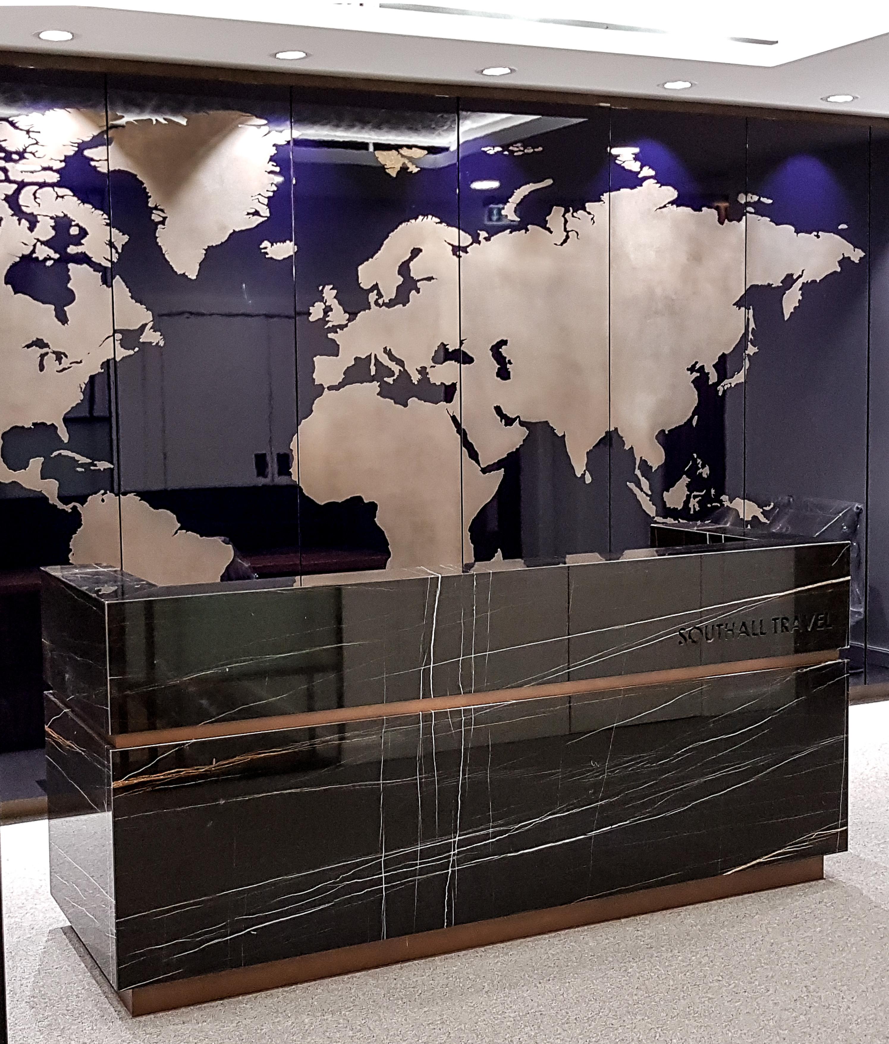 Liquid metal map