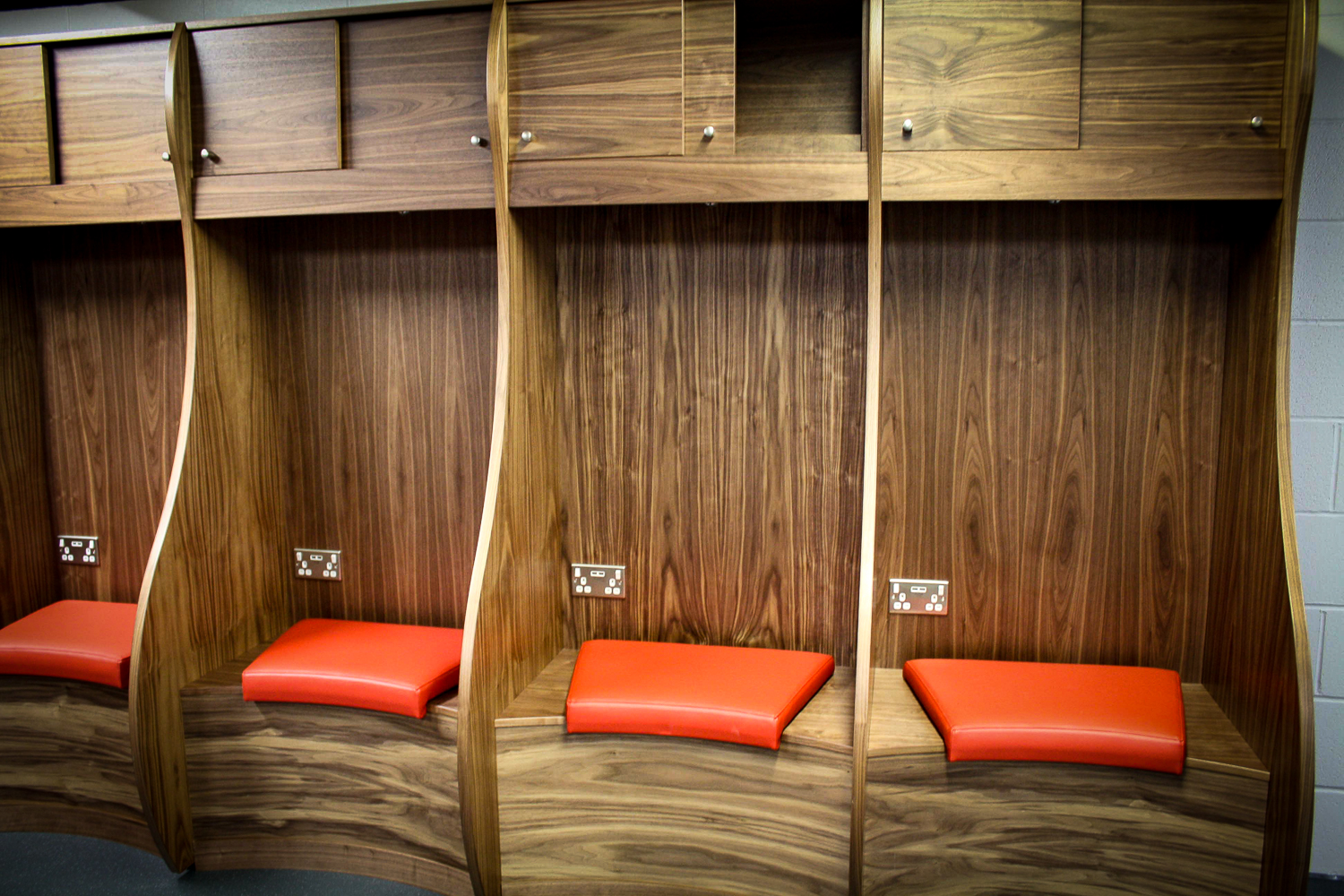 Upholstery used in changing rooms